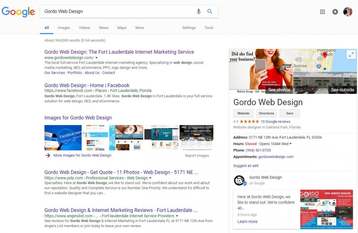 google Google Local Business Knowledge Panel Not Showing – Try This Fix By Gordo Web Design - Google Local Business Knowledge Panel Not Showing try this trick by gordo web design csml 1170x763